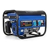 EBERTH 3000 Watt Benzin Stromerzeuger (6,5 PS Benzinmotor, 4-Takt, luftgekühlt, 2x 230 V, 1x 12 V, Seilzugstart, Automatischer Voltregler AVR, Ölmangelsicherung, Voltmeter)