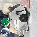 Mauernutfräse mit Laser | 1700 W, ca. 4.000 U/min, mit 2 Diamantscheiben Ø 150mm, integrierter Überlastungsschutz, und Staubabsaugung | Schlitzfräse, Mauerfräse, Wandfräse, Beton Fräse
