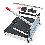 Schnittbreite 630 mm - Der Bautec PROFI Laminatschneider - Parkettschneider - Vinylschneider inkl. 2 Klingen, Rollen und Teleskophebel und 18teiligem Verlege Set.