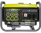 KS BASIC 2200А Stromerzeuger, 5,5 PS 4-Takt Benzinmotor, Aluminium Alternator, Automatischer Spannungsregler (AVR), 2200 Watt, 16A, 230V Generator, für den Heim- und Freizeitbedar