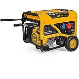 VITO Pro-Power AVR Benzin Stromerzeuger 230V & 400V - 8kVA Generator 15PS 6500W mit E-Starter, luftgekühlt, Ölmangelsicherung, Überlastschalter, 29.5A, Profi 4 Takt Generator Notstromaggregat