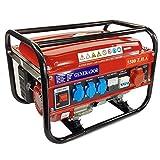 Elektrischer Generator, Benzin, mit Rollen 15 L 5500W (1000W + 1000W + 1000W + 2500W) 3-Phasen + 1-Phasen, 4-Takt-Motor